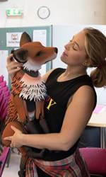 Mollie Melia-Redgrave with Fox in rehearsals for DR DOLITTLE credit Alastair Muir.jpg