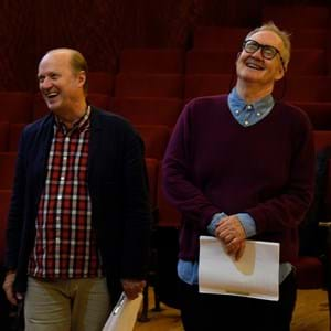 Adrian Edmondson and Nigel Planer during rehearsals