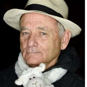 Bill Murray and Lambie, his lamb scarf