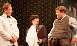 NTL 2019 - One Man, Two Guvnors-2011-PRO-6-David Benson as Gareth,Jemima Rooper as Rachel.jpg