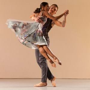 A male and female dancers